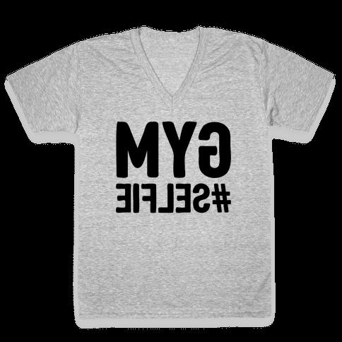 Gym Selfie V-Neck Tee Shirt