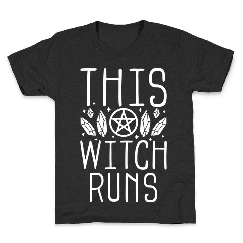 This Witch Runs Kids T-Shirt