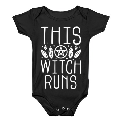 This Witch Runs Baby Onesy
