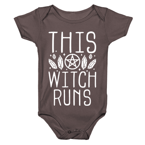 This Witch Runs Baby One-Piece