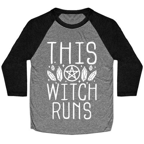 This Witch Runs Baseball Tee
