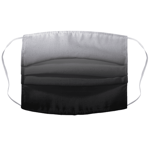 Grayscale Dark Accordion Face Mask