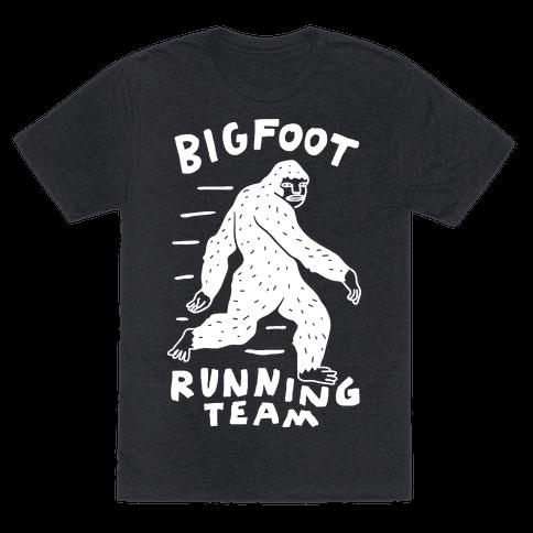 Bigfoot Running Team Mens T-Shirt