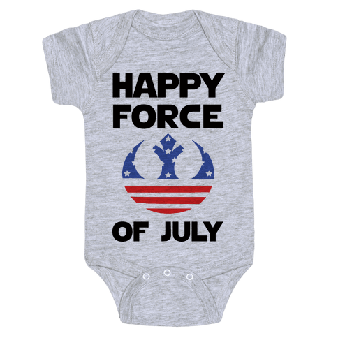 Happy Force Of July Baby Onesy