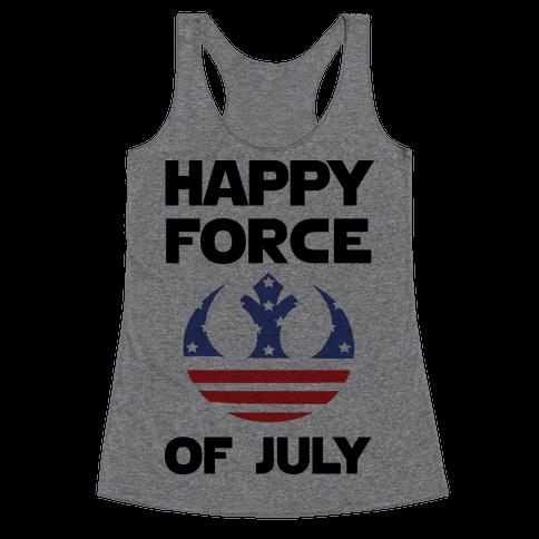 Happy Force Of July Racerback Tank Top
