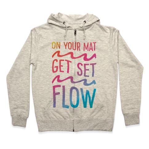 On Your Mat Get Set Flow Yoga Zip Hoodie