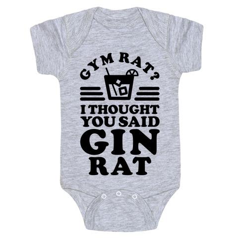 Gym Rat Gin Rat Baby Onesy