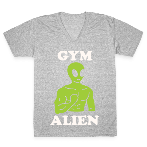 Gym Alien V-Neck Tee Shirt
