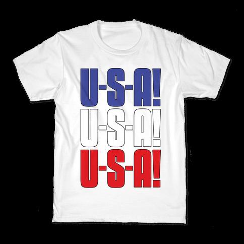 U-S-A! U-S-A! U-S-A! Kids T-Shirt