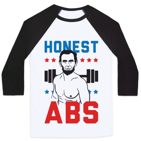 Honest Abs Baseball Tee