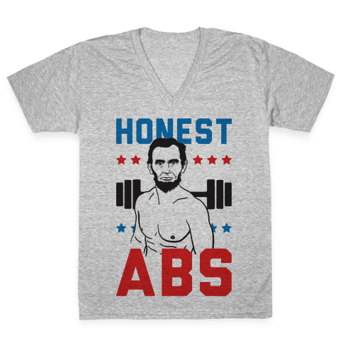 Honest Abs V-Neck Tee Shirt