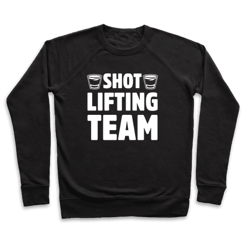 Shot Lifting Team White Print Pullover