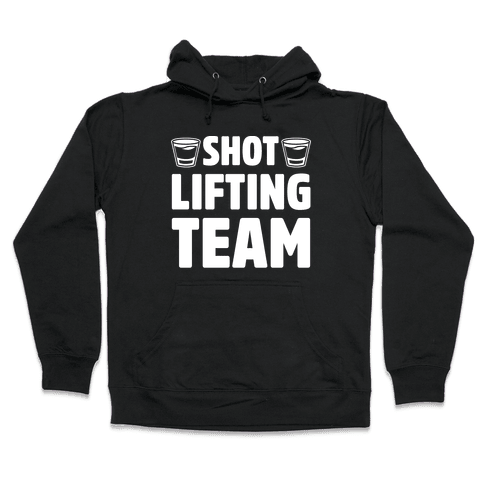 Shot Lifting Team White Print Hooded Sweatshirt