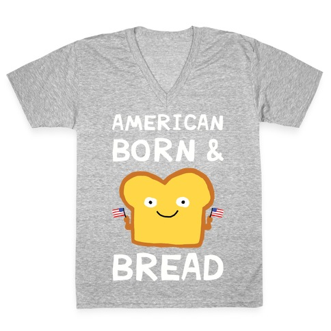 American Born And Bread V-Neck Tee Shirt