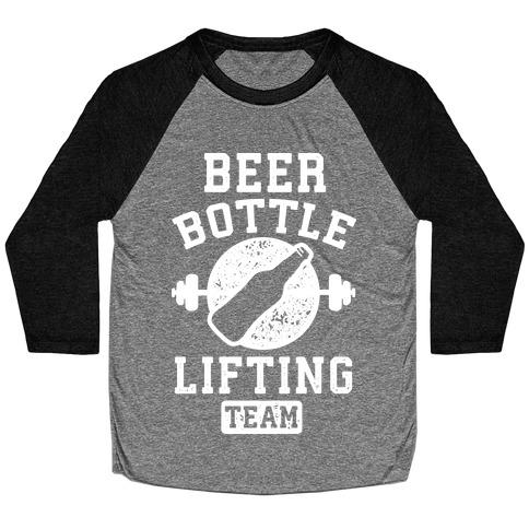 Beer Bottle Lifting Team Baseball Tee