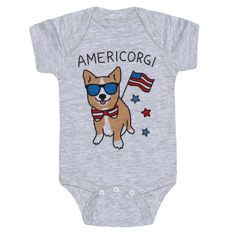AmeriCorgi Patriotic Corgi Baby Onesy