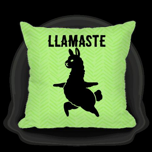 Llamaste Yoga Llama Pillow