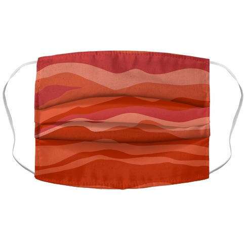 Bacon Strip Face Mask