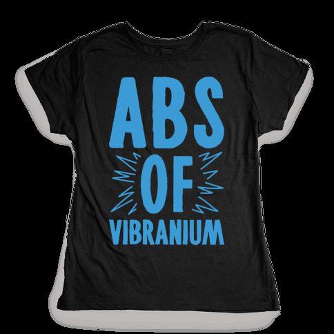 Abs Of Vibranium Parody Womens T-Shirt