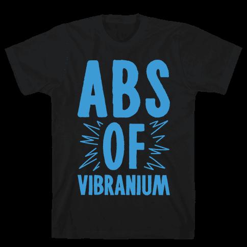 Abs Of Vibranium Parody Mens T-Shirt