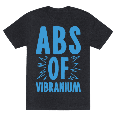 Abs Of Vibranium Parody Tee