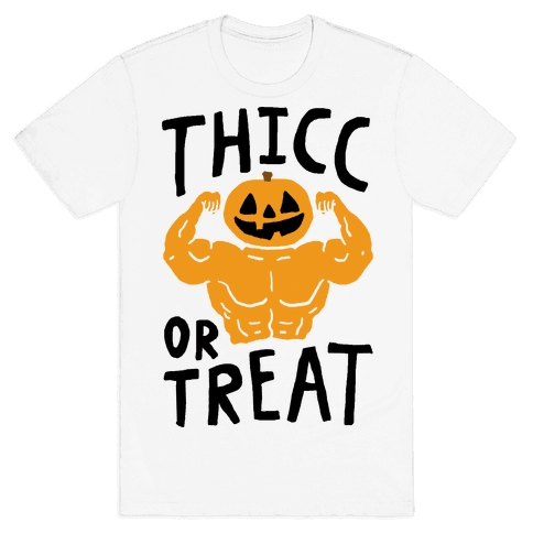 Thicc Or Treat Halloween Mens T-Shirt