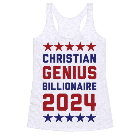 Christian Genius Billionaire 2024 Racerback Tank Top
