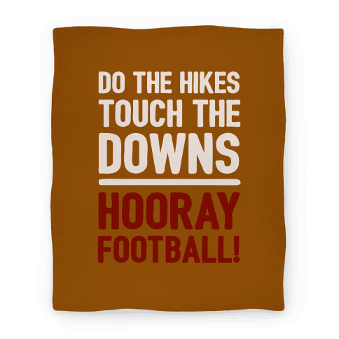Hooray Football Blanket