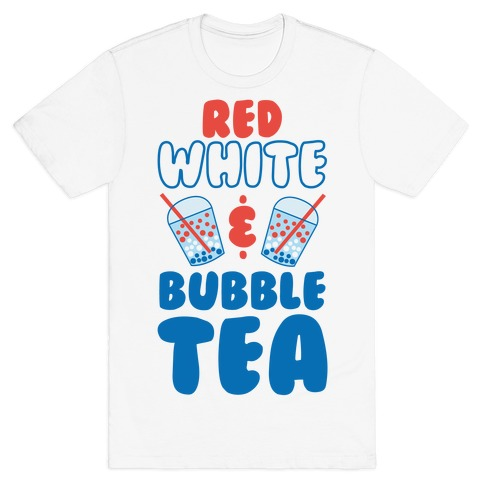 Red, White and Bubble Tea T-Shirt