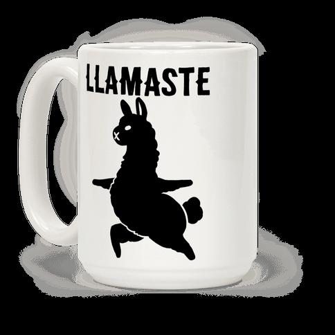 Llamaste Yoga Llama Coffee Mug