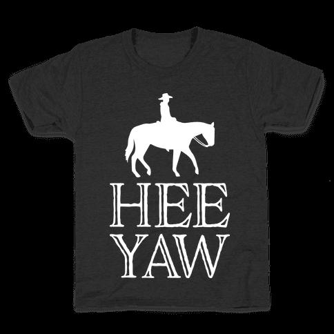 Hee Yaw Cowboy  Kids T-Shirt