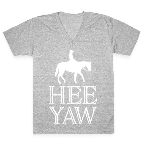 Hee Yaw Cowboy  V-Neck Tee Shirt