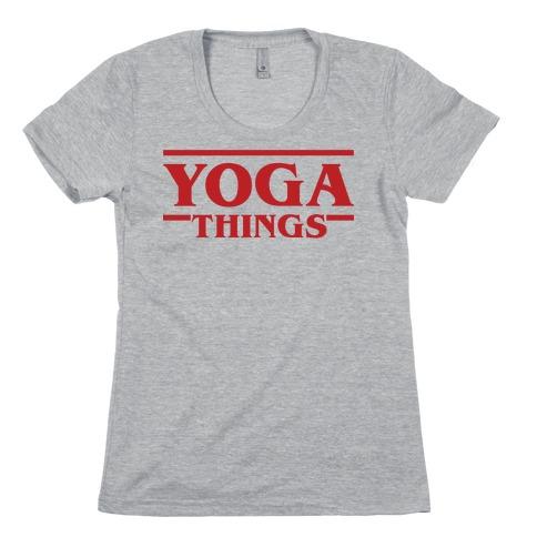 Yoga Things Womens T-Shirt