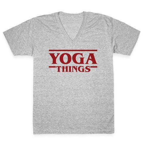 Yoga Things V-Neck Tee Shirt