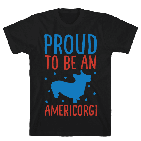 Proud To Be An Amercorgi White Print Mens/Unisex T-Shirt