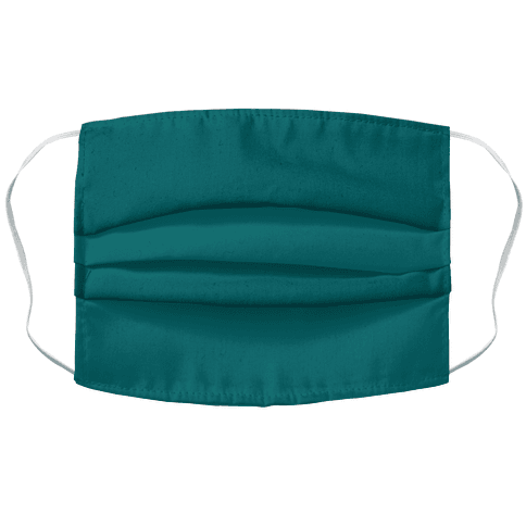 Teal Accordion Face Mask