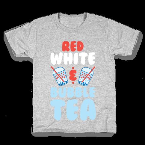 Red, White & Bubble Tea Kids T-Shirt
