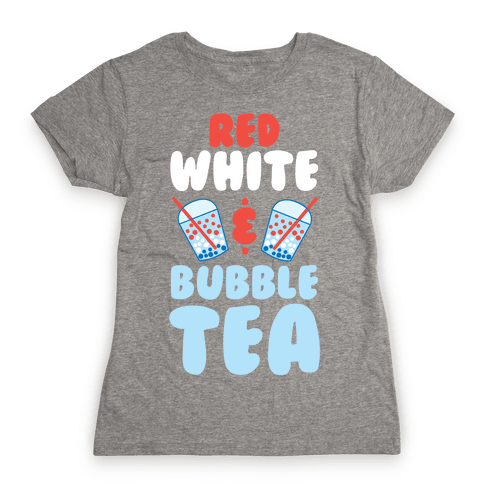 Red, White & Bubble Tea Womens T-Shirt