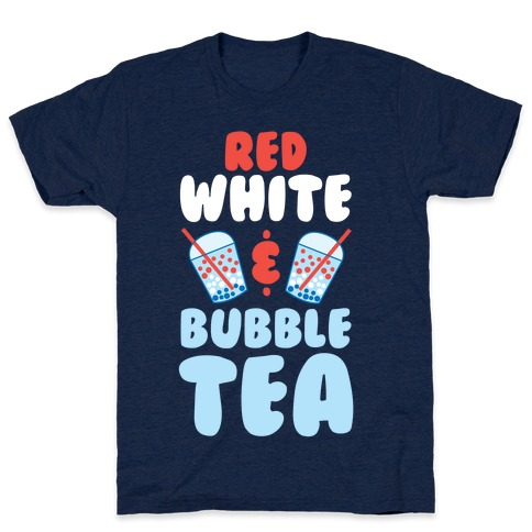 Red, White & Bubble Tea T-Shirt