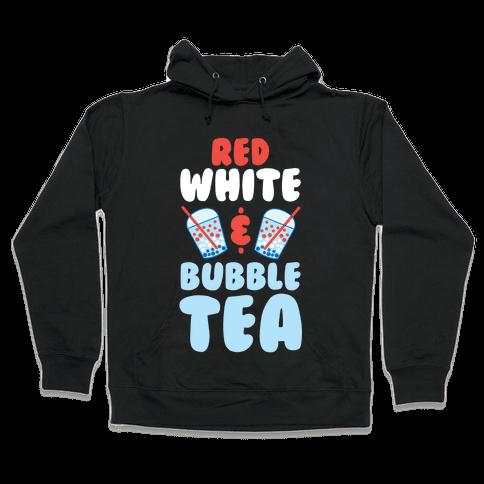Red, White & Bubble Tea Hooded Sweatshirt