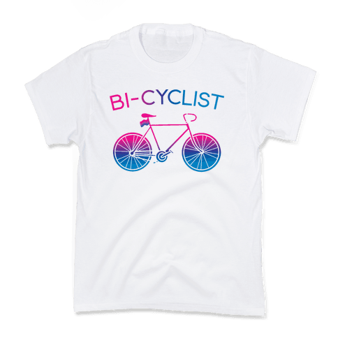 Bisexual Bi-Cyclist Kids T-Shirt