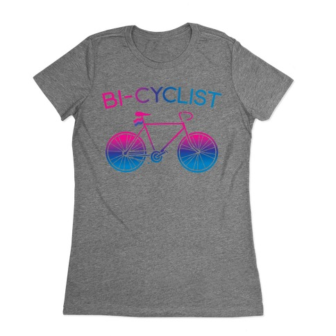 Bisexual Bi-Cyclist Womens T-Shirt