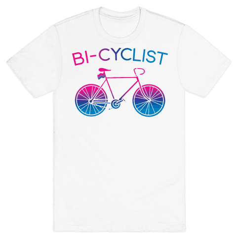 Bisexual Bi-Cyclist Mens/Unisex T-Shirt