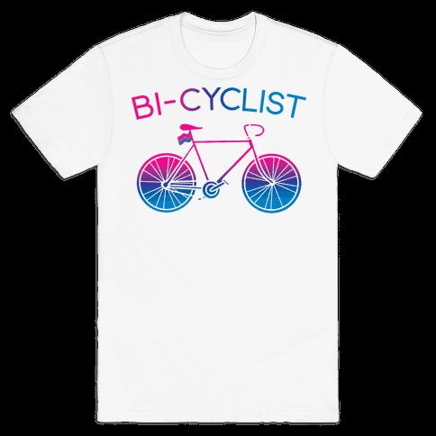Bisexual Bi-Cyclist Mens/Unisex T-Shirt