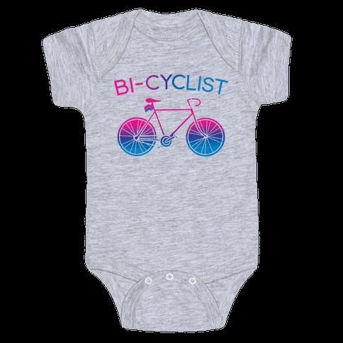 Bisexual Bi-Cyclist Baby One-Piece