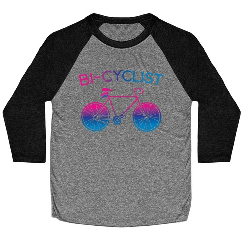 Bisexual Bi-Cyclist Baseball Tee