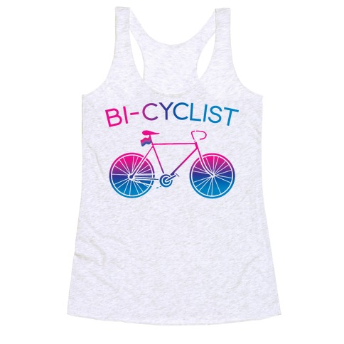 Bisexual Bi-Cyclist Racerback Tank Top