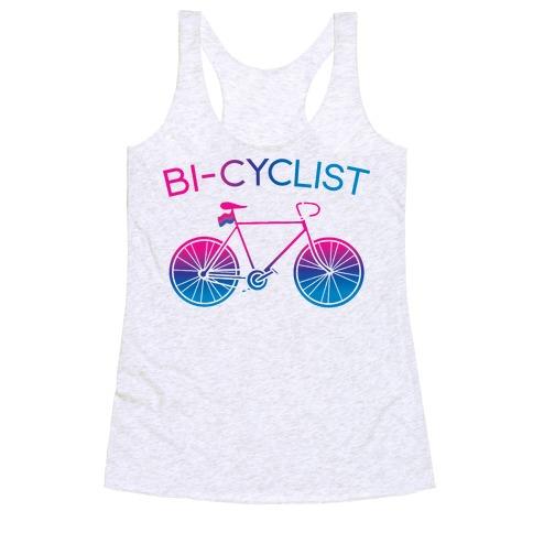 Bisexual Bi-Cyclist Racerback Tank Top