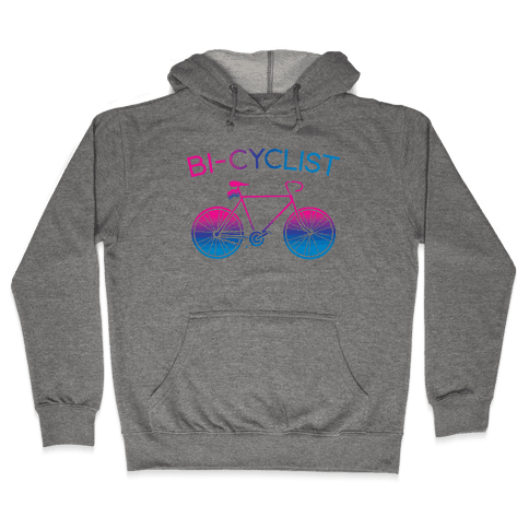 Bisexual Bi-Cyclist Hooded Sweatshirt