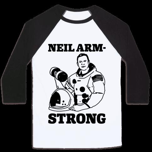 Neil Arm-Strong Lifting Baseball Tee